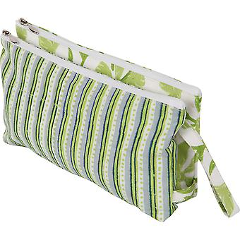 Radiance Full Fabric Double Zipper Pouch-Large KP810072