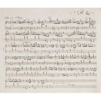 Valse Opus 70 No1 In G Flat Major Poster Print von Fryderyk Chopin