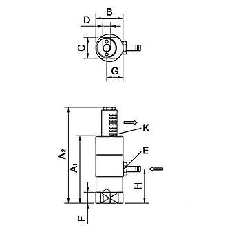 Netter Vibration NTS 180 NF Linear vibrator Nominal frequency (at 6 bar): 4880 Hz 1/8