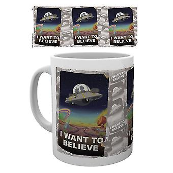 Rick und Morty I Want To Believe Mug