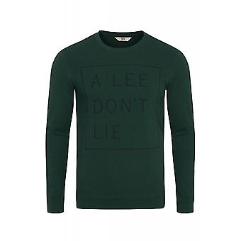 Lee don't lie tee long sleeve sweater men's sweater green L65VEQBB