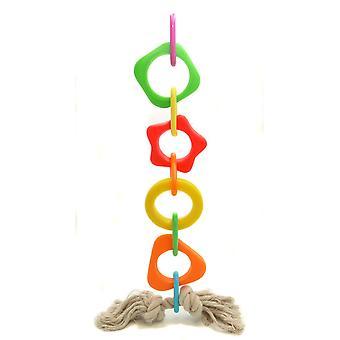 Papuga geometrix zabawki winylu łańcucha Med