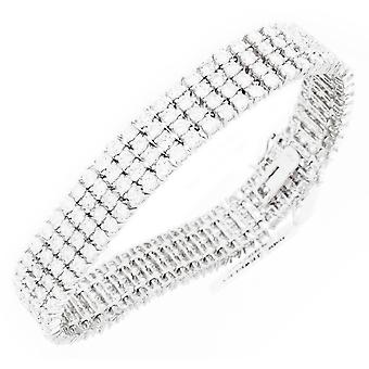 Iced out bling high quality strap - ALL WHITE