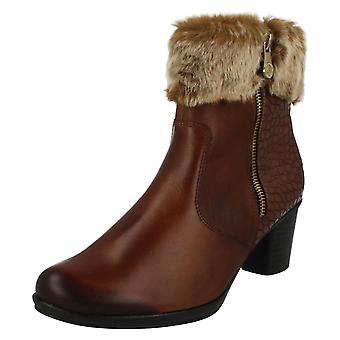 Damer Remonte kunstskind manchet ankel støvler R1585