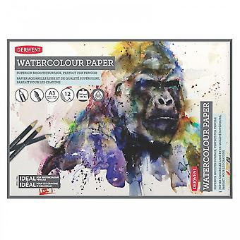 Derwent Watercolour papel A3 Pad