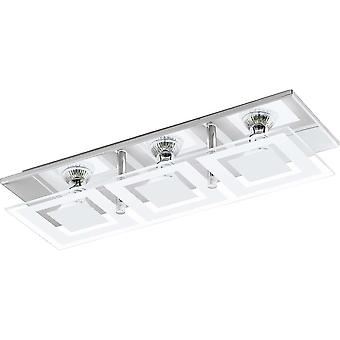 Eglo ALMANA Chrome LED Semi Flush Ceiling Wall Light