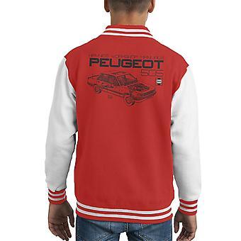 Haynes Workshop Manual 0762 Peugeot 505 Black Kid's Varsity Jacket