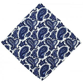 Michelsons av London Paisley Silk Pocket Square - blå