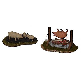 Nativity accessories stable Nativity set pig BBQ and pig place