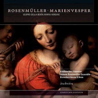 Rosenmuller / Hannover Boy's Choir - Vespro Della Beata Maria Vergine [CD] USA import