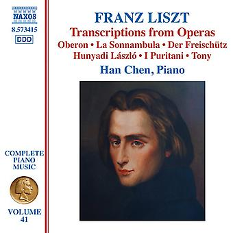 Liszt / Chen - Transcriptions of Opera Works [CD] USA import