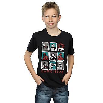 Звездные войны мальчиков последний джедаев темная сторона символ Multi футболку