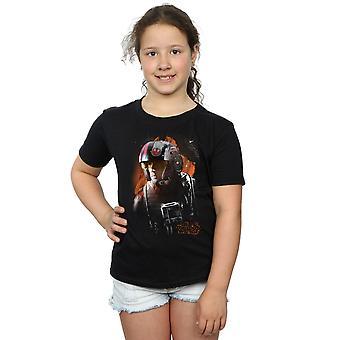Star Wars piger den sidste Jedi Poe Dameron børstet T-Shirt