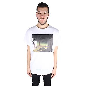 Off-White Silver Chirico Tee OMAA002 S17185087 0188 T-Shirt