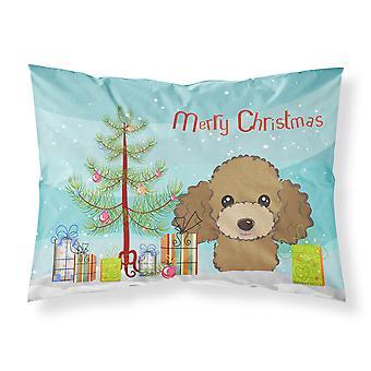 Weihnachtsbaum und Schokolade braun Pudel Stoff Standard Kissenbezug