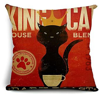 Superstudio Cat Cushion Cover King Cotton (Home , Textile , Cushiones)
