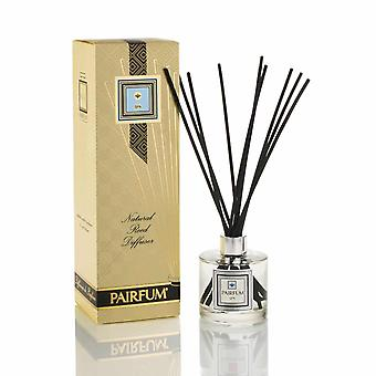 Large & Natural Reed Diffuser - Long-lasting & Healthy - Beautiful Perfumes that Compliment You - Fragrances for 6 - 8 months (200 ml) - by PAIRFUM - Perfume: SPA - For Men - with Black Reeds