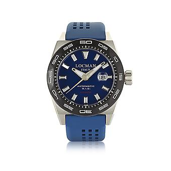 Locman 0215V30KBLNKS2B blue steel mens watch