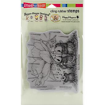 Stampendous House Mouse Cling Stamp -Peony Song HMCR116