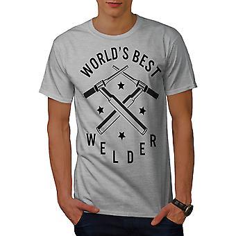 Worlds Best Welder Men GreyT-shirt | Wellcoda