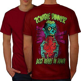 Dinner Brain Heart Men RedT-shirt Back | Wellcoda