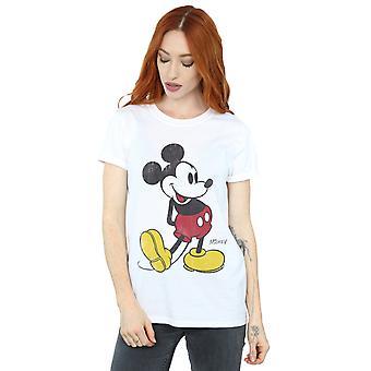 Disney Women's Mickey Mouse Classic Kick Boyfriend Fit T-Shirt