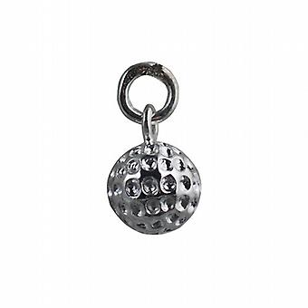 Silver 9mm Golf Ball Pendant or Charm