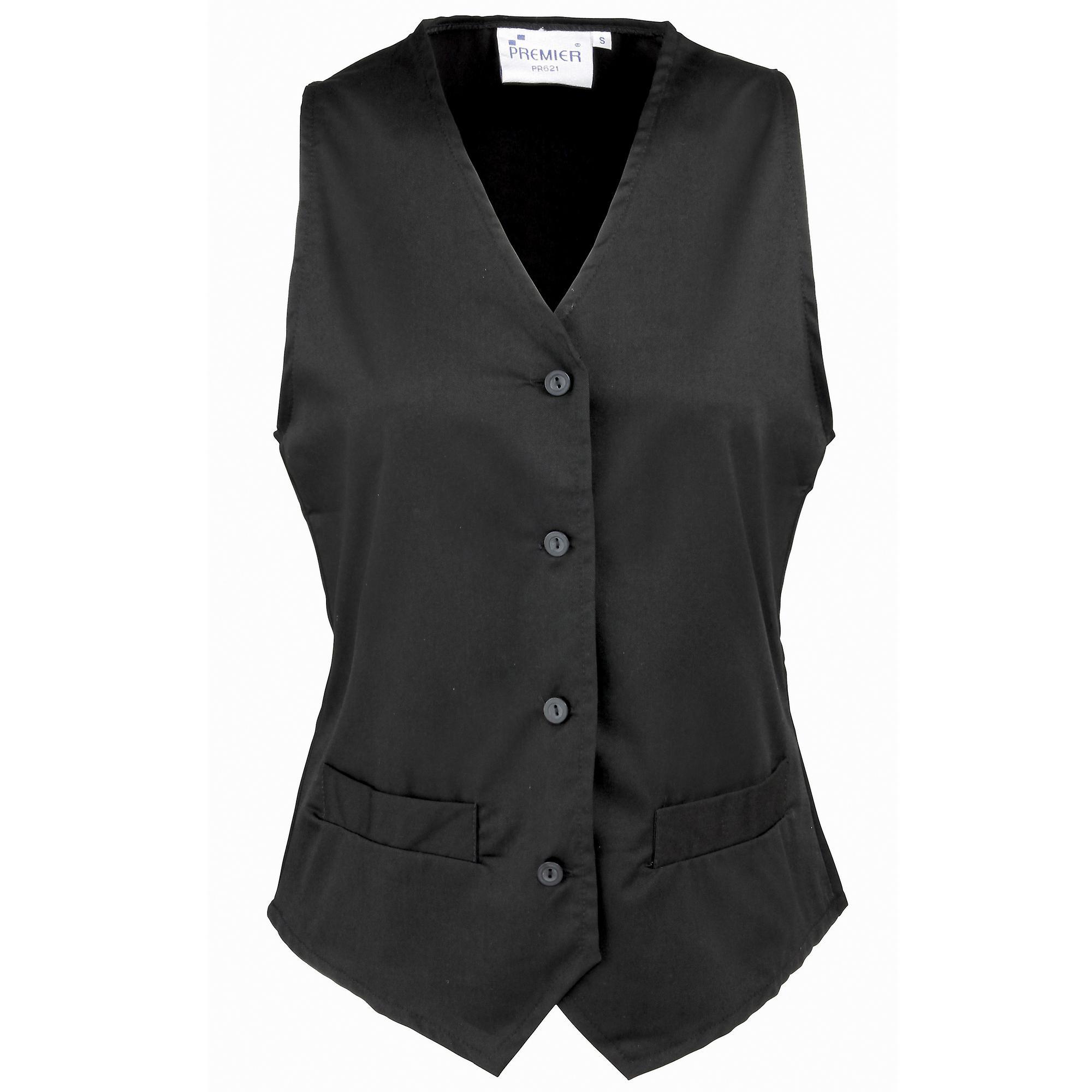 Premier Womens/Ladies Hospitality Waistcoat / Catering / Barwear