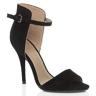 Ajvani женские высокой пятки шпильках партии лодыжки манжеты контраст два тон сандалии Пип toe обувь