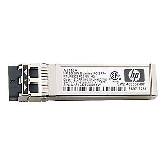 HPE B-Series-SFP + transmitter/receiver module-8 Gb fibre channel (Short Wave)-Fibre Channel for HPE 32, 48, 8/24, 8/8, SAN Switch