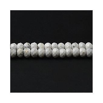 Strand 65 + 5 x 8mm biały howlit Rondelle szlifowane koraliki CB48947