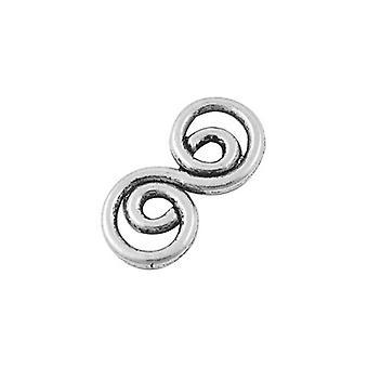 5 x Antik Silber Metall-Legierung keltischen Wirbel heidnischen Anschlüsse 13x26mm Y01270