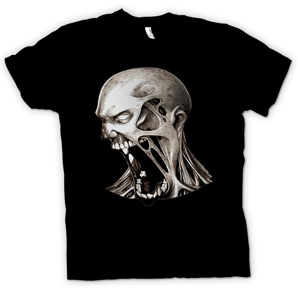 Mens T-shirt - Zombie Undead Mouth - Horror