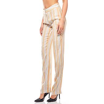 Print pants women's pants striated beige rick cardona