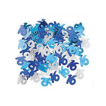 Verjaardag Glitz Blue - 16e verjaardag Confetti