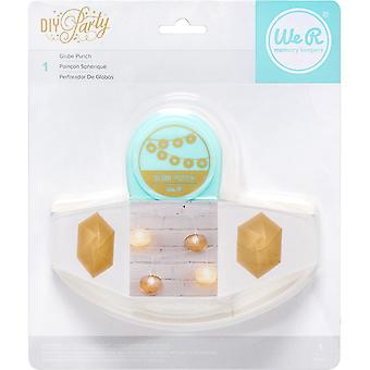 We R DIY Party Paper Punch-Globe
