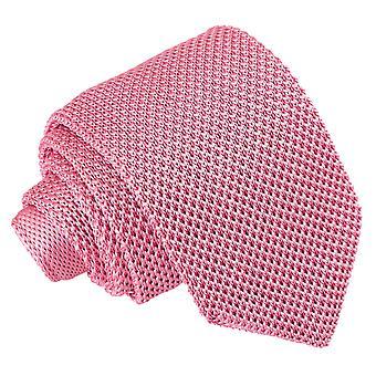 Aardbei Roze gebreid slanke Tie