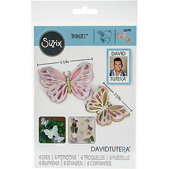 Sizzix Thinlits Dies By David Tutera 6/Pkg -Large Delicate Butterfly