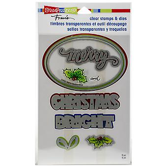 Stampendous Clear Stamp & Die Set-Christmas Bright