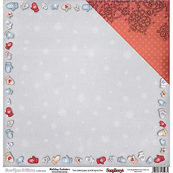Scrapberry's Once Upon A Winter Dbl-Sided Cardstock 12
