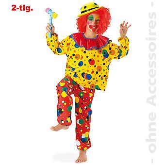 ピエロ コスチューム子供 Clownkostüm コメディ道化師ハーレクイン子供衣装します。