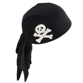 海賊フード点滅黒いバンダナ