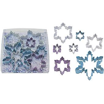 Set of 7 Snowflake Cookie Cutters for Christmas | Christmas Baking Supplies