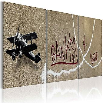 Canvas Print - vliegtuig (Bansky)