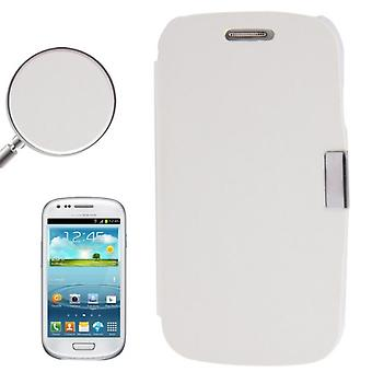 Cell phone cover case for Samsung Galaxy S3 mini i8190 / i8195 / i8200 white brushed