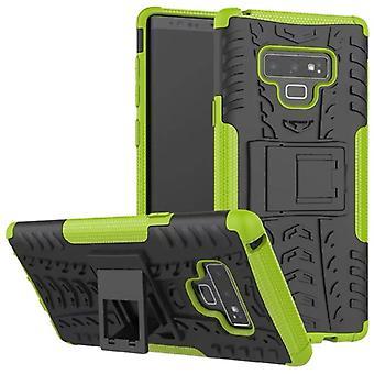 Für Samsung Galaxy Note 9 N960 N960F Hybrid Case 2teilig Outdoor Grün Tasche Hülle Cover Schutz
