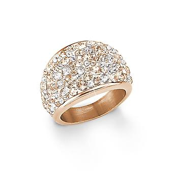 s.Oliver Jewel Damen Ring Edelstahl IP Rose SO1428