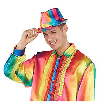 Rainbow Fedora Hat accessories Halloween Carnival