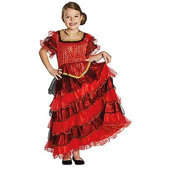 Spaanse kinderen kostuum meisje jurkje Flamenco carnaval