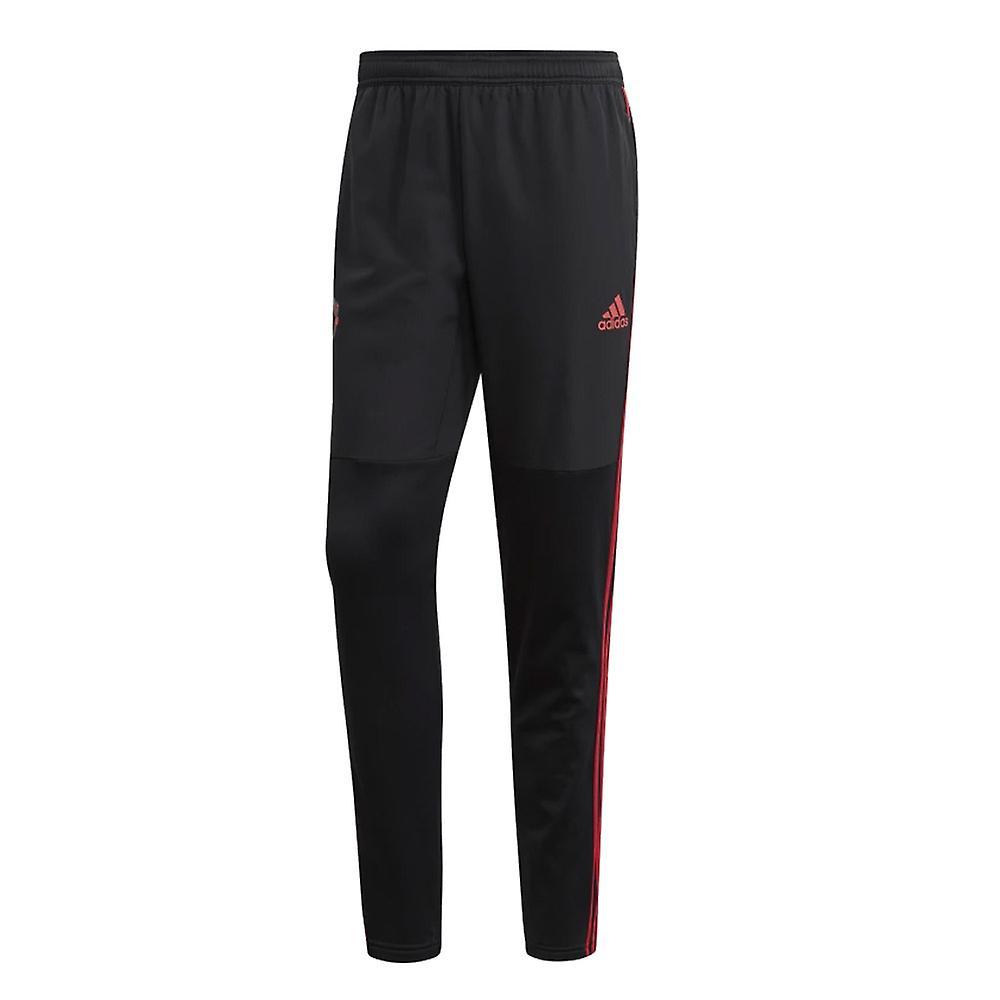 2018-2019 Man Utd Adidas Warm Pants (Black)